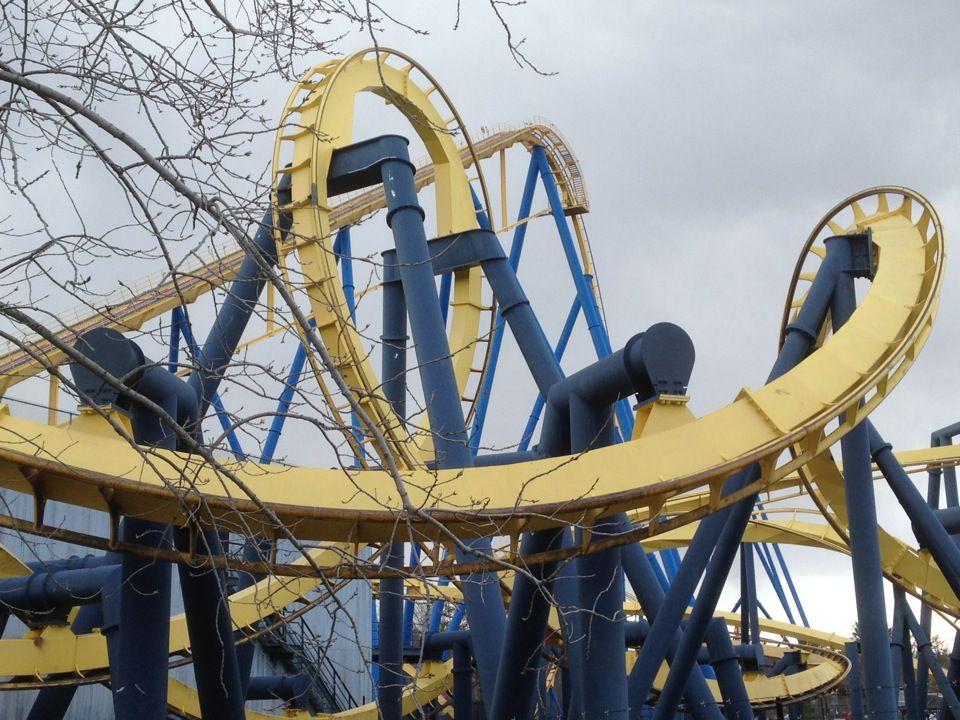 Batman The Ride Six Flags Great Adventure Six Flags Great Adventure Riding Roller Coaster