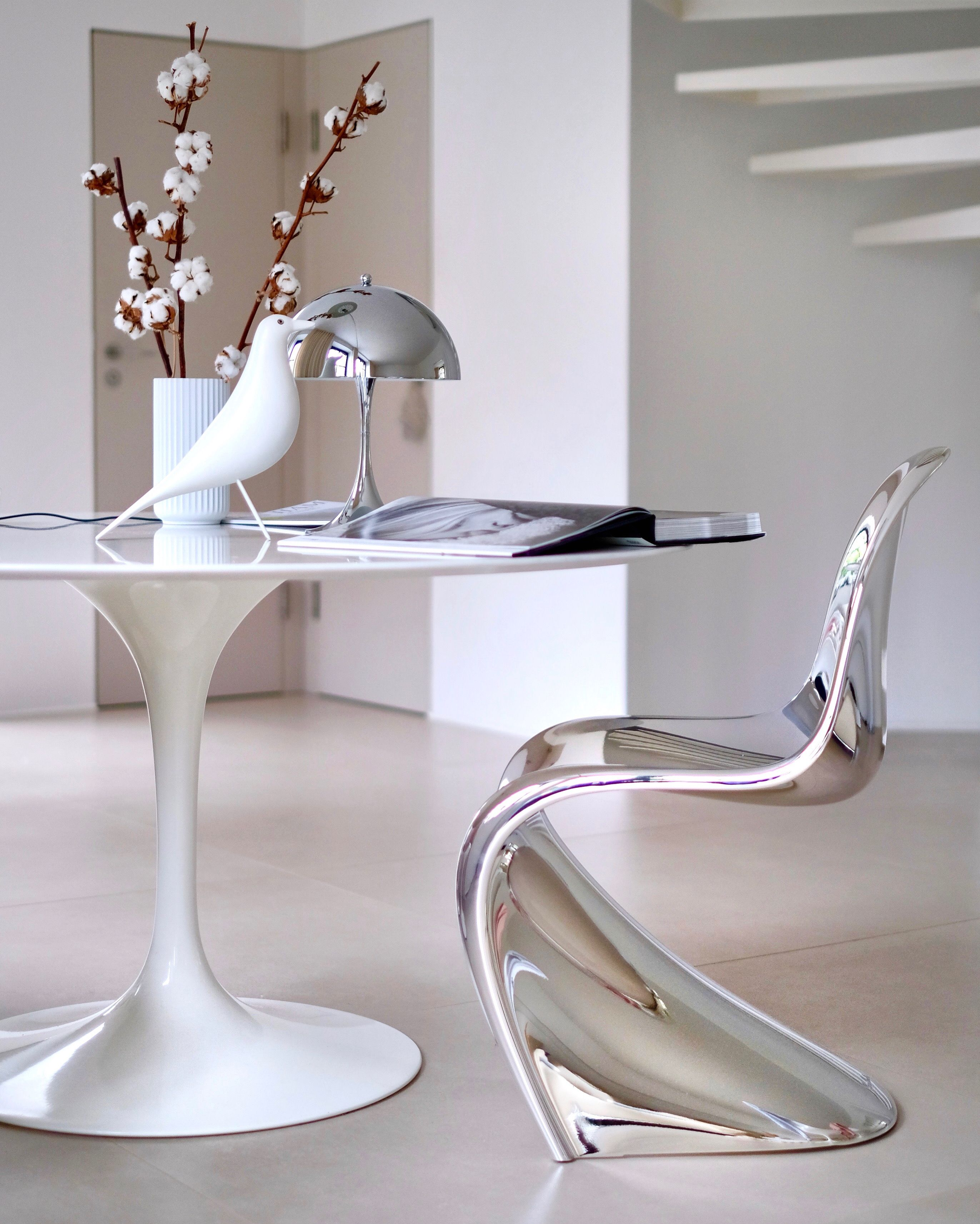 Chrome Chair Saarinen Tisch Panton Chair Vitra Stuhl