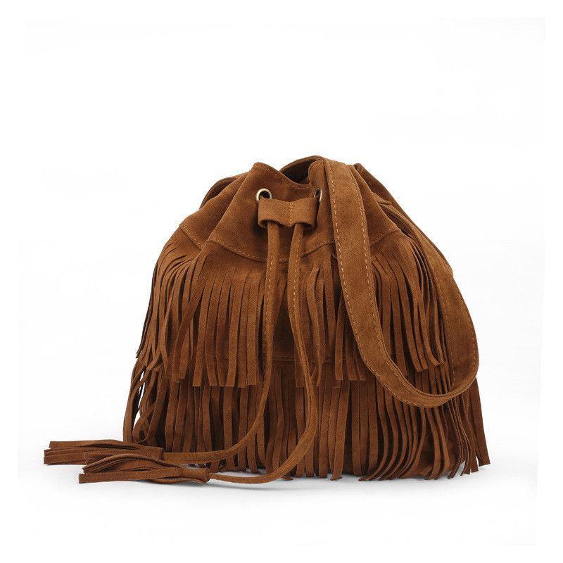 Women bag 2015 Women Handbag Popular Faux Suede Fringe Tassel Shoulder Messenger Bags New Fashion Handbags
