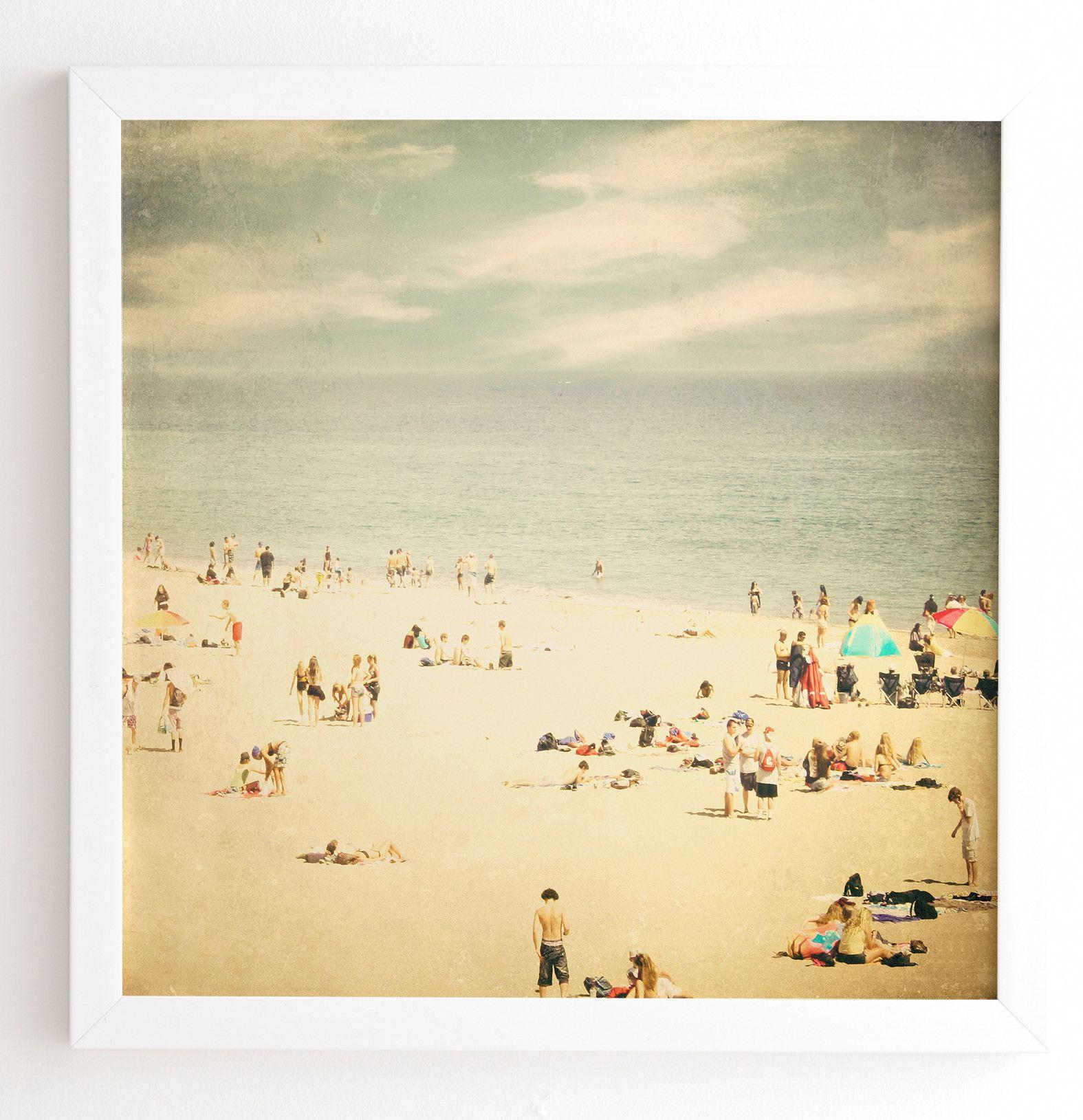 Vintage Beach Framed Photographic Print