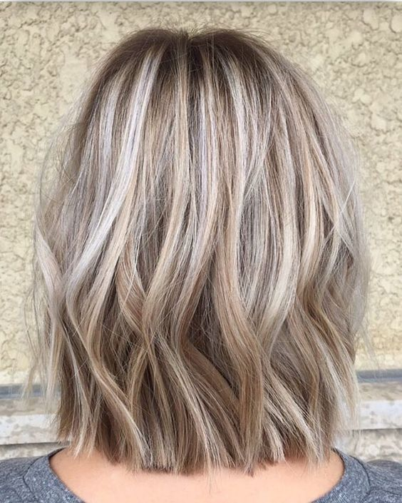 Covering Gray Hair Dark Hair Blonde Highlights And Gray Hair Highlights Hair Color Fall Great Hair I M G Blending Gray Hair Gray Hair Highlights Hair Styles