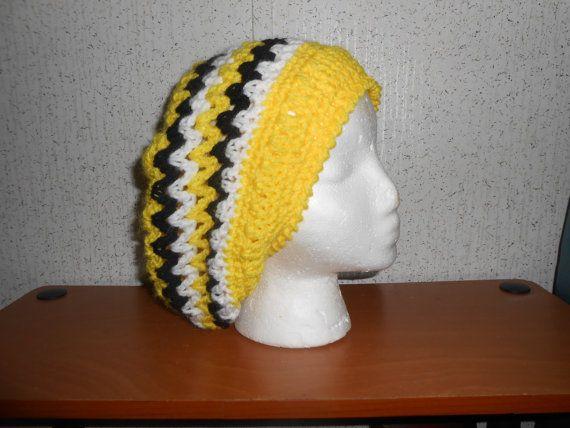 4c0223796ff Handmade Crochet Rasta Slouchy hat Rasta by HappyHookersCrafts ...