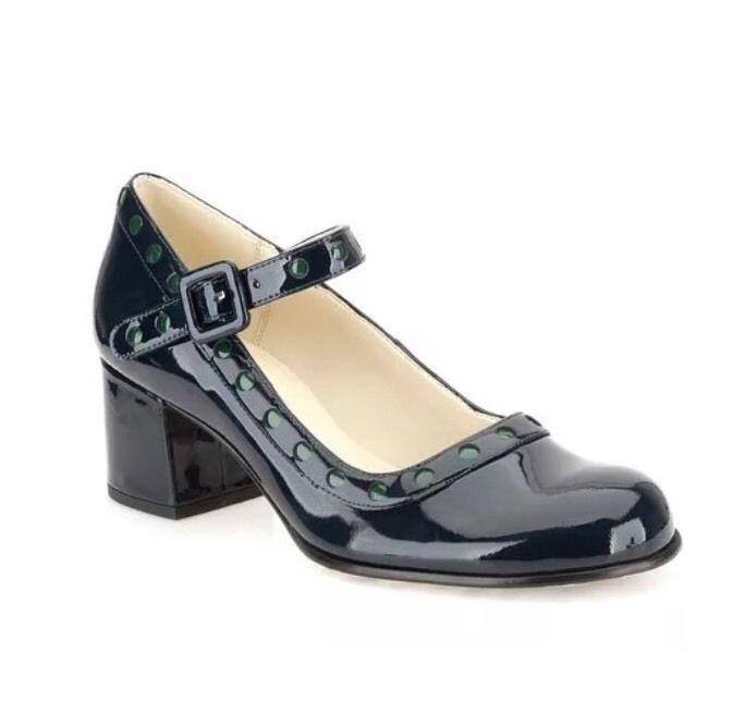 Orla Kiely For Clarks Dorothy Navy Patent Green Dot Detail Shoes UK 5.5 EU 39 | eBay