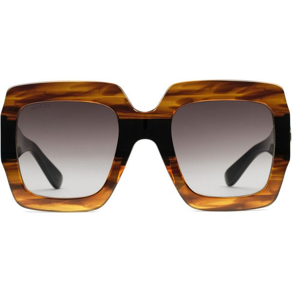 eb2233dacb2 Gucci Square-Frame Acetate Sunglasses ( 400) ❤ liked on Polyvore featuring  accessories