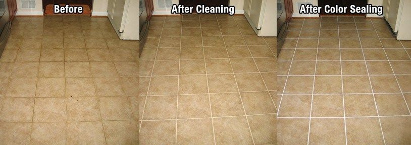 Grout sealing with colorseal is a great alternative to for How to clean sealed concrete floors