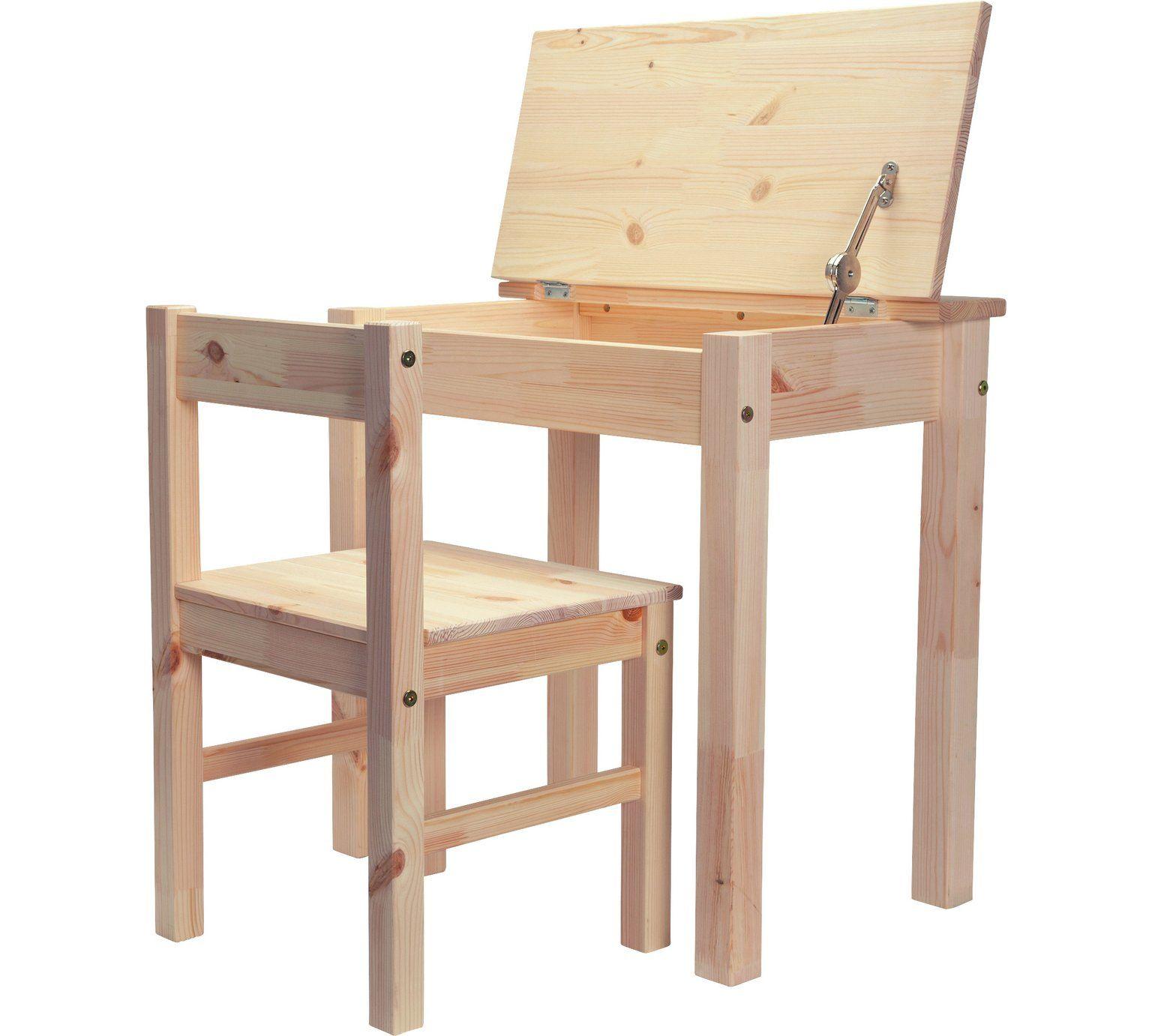Argos Childrens Garden Table And Chairs: Buy Argos Home Scandinavia Desk & Chair - Pine