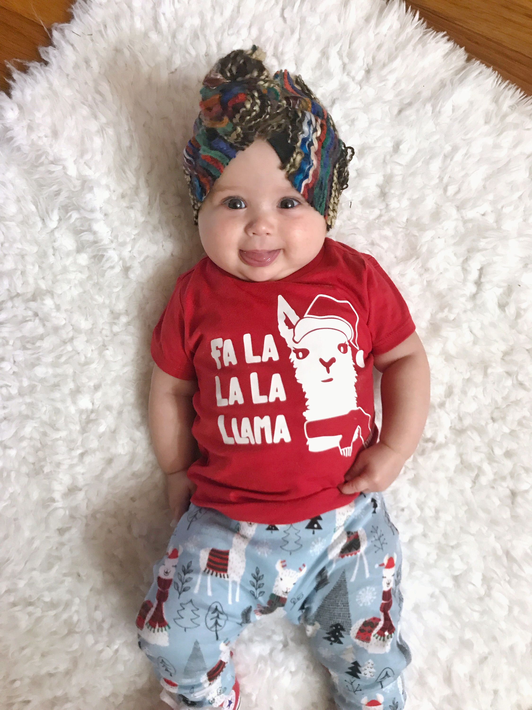 8b177153 Excited to share this item from my #etsy shop: Kids Christmas shirt, funny  Christmas shirt, fa la llama, christmas llama shirt, Christmas shirt for  kids