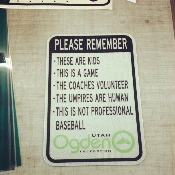 Baseball Field Signs The Umpires Are Human This Is Not Professional Baseball Pandawhale Professional Baseball Little League Baseball Quotes