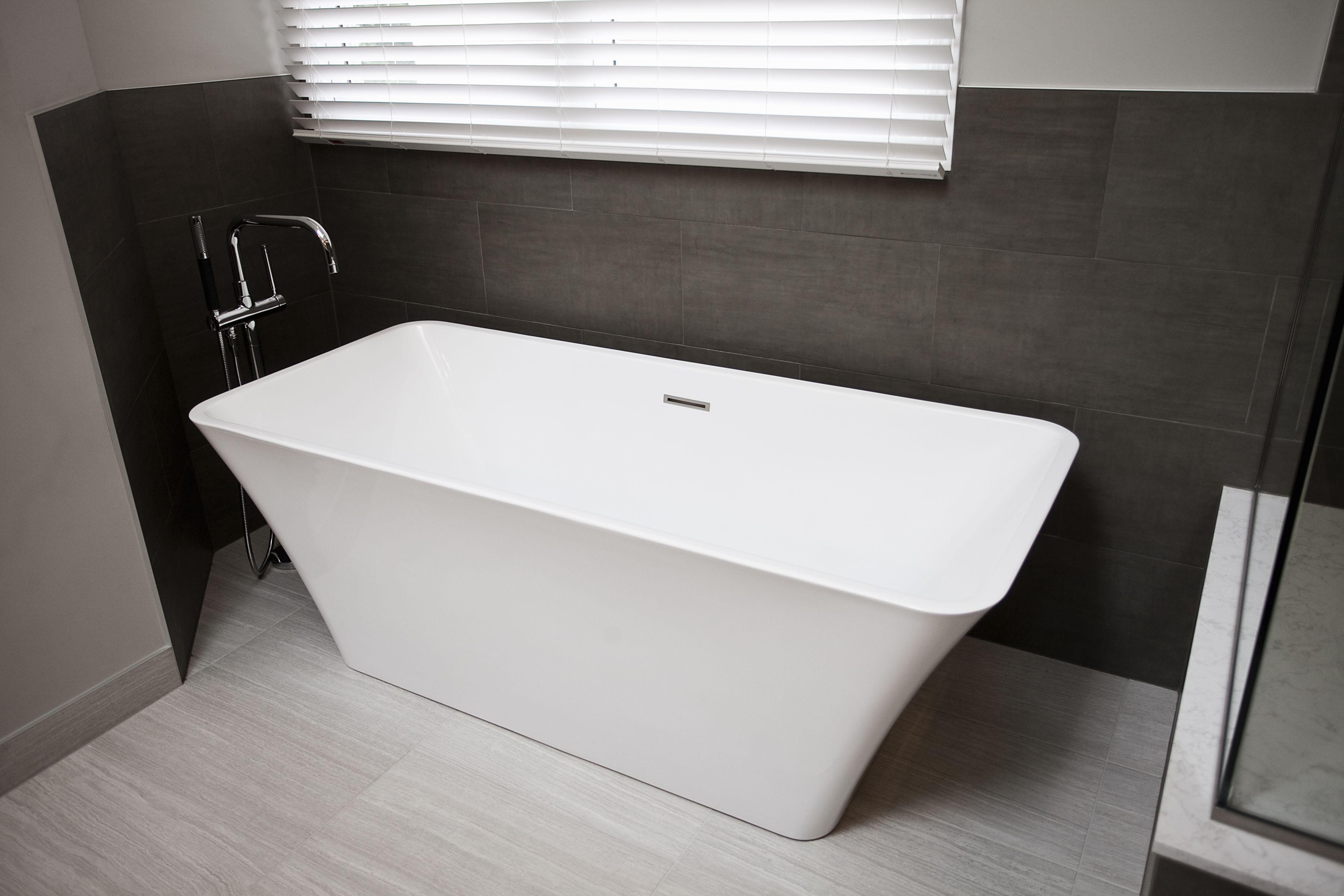 Bath Masters Naperville contemporary naperville master bath. soaking tub, large format