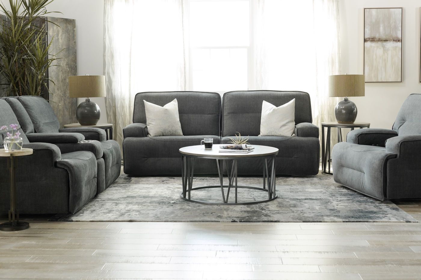 Simon Li Granada Charcoal Power Sofa Power Reclining Sofa Charcoal Sofa Reclining Sofa