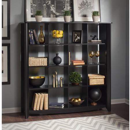 Awesome Bush Furniture Aero 16 Cube Bookcase/Room Divider In Classic Black    Walmart.com
