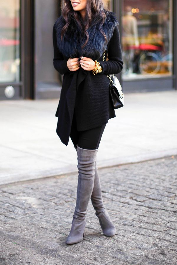 e7666c4a469 Bundled in Black Vince sweater (also love this one)    7 For All Mankind  jeans (size down) Stuart Weitzman boots (also love these)    Cami NYC tank  Otte ...