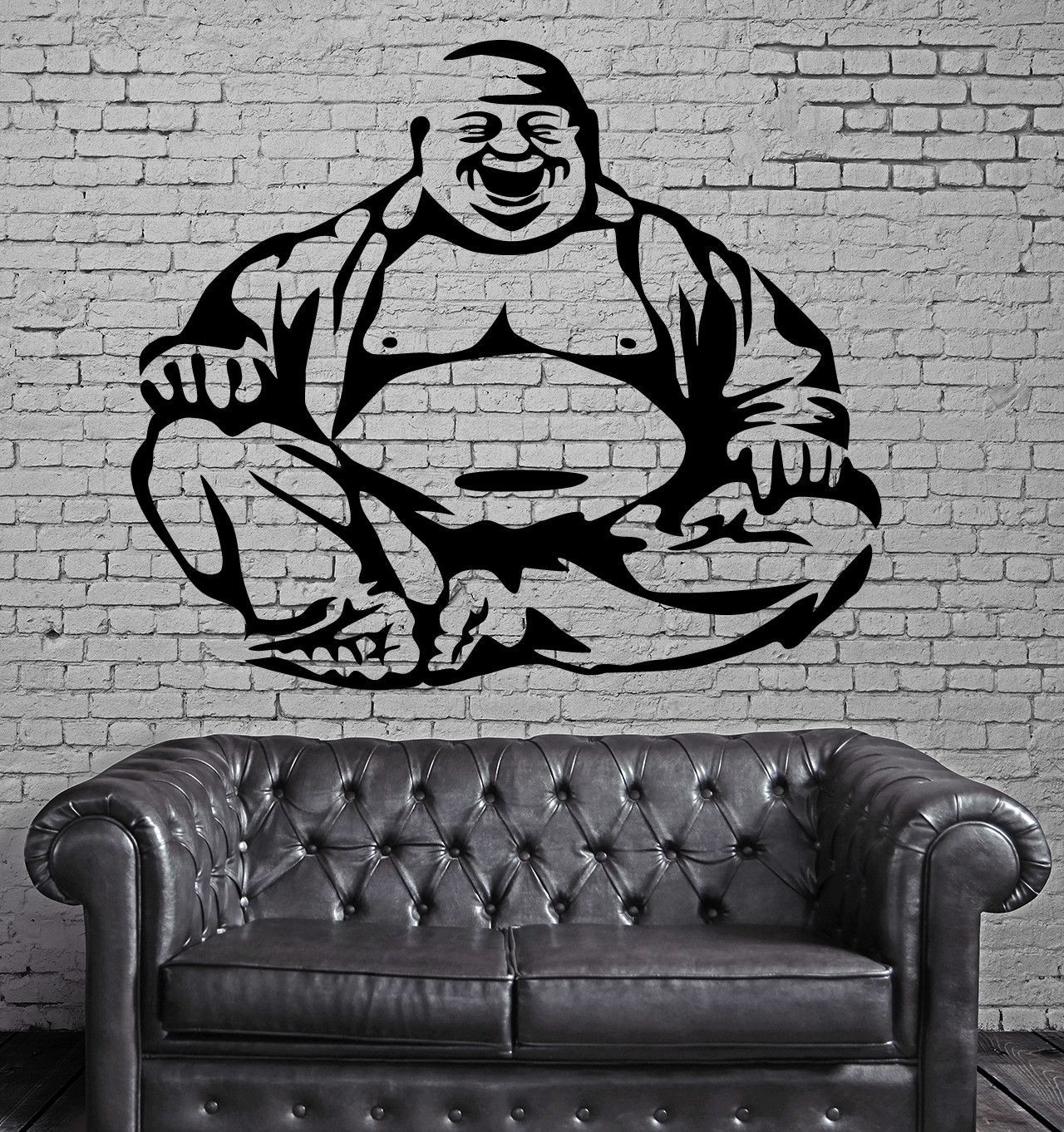 Happiness Laughing Buddha Amulet Buddhism Wall Stickers Vinyl Decal ...
