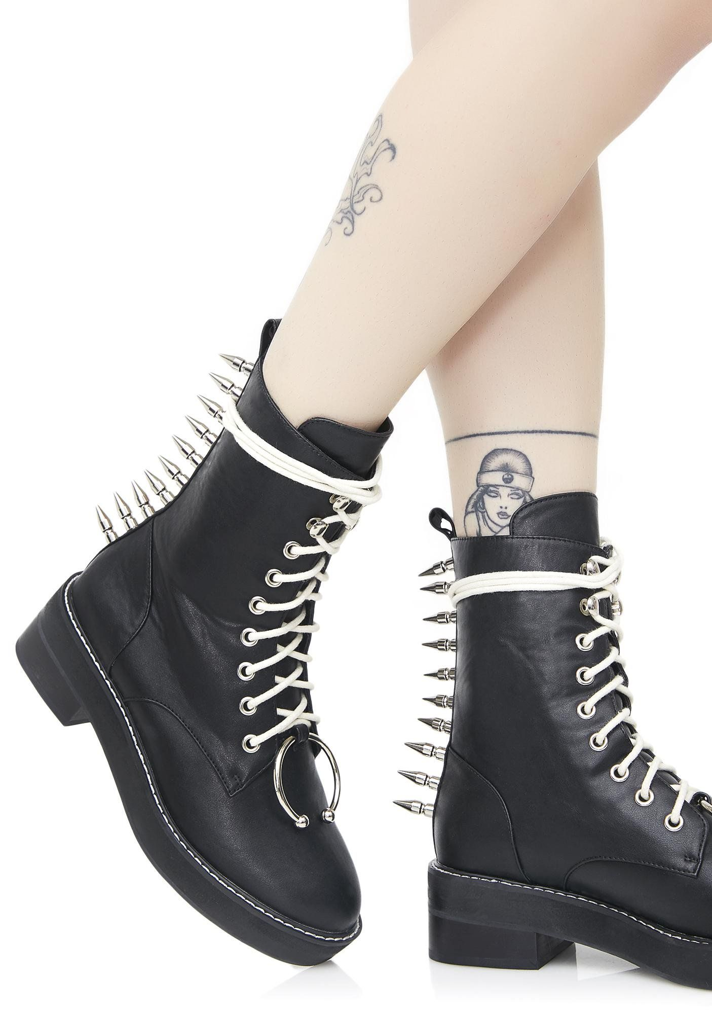 Spikestrip Combat Boots | Lace up
