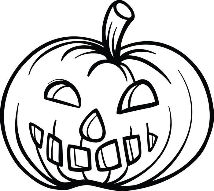 Pumpkin Coloring Page #1 | Pinterest | Free printable