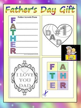 Father's Day Gift BookLet your students express themselves and how they feel about their dads. This is a delightful gift that is easy to make. Have children customize the pages, then bind them together in booklet form for Dad.The PDF file contains:- 11 color - 7 black and whiteYou are able to use them for any personal or commercial use.Thanks for stopping by!*****************************************************************Editable PowerPoint Ladybugs- 3 PowerPoint slide design    SPRING…