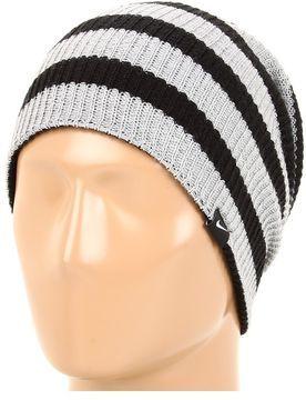 539ac920a13 Nike - Slouchy Stripe Beanie (Black Dark Grey Heather) - Hats on shopstyle .com