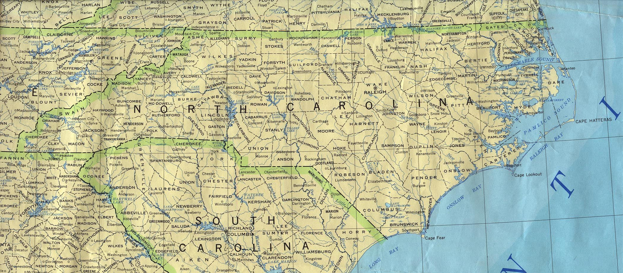 Old Map North Carolina Map Of North Carolina A Source For All - Map of the carolinas usa