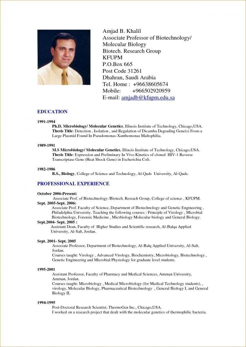 In Usa Professional resume format, Sample resume format