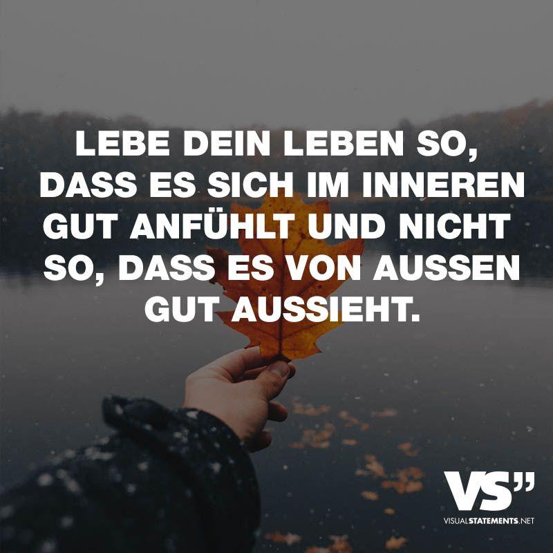 Visual Statements® Sprüche/ Zitate/ Quotes/ Leben/ U201dLEBE DEIN LEBEN