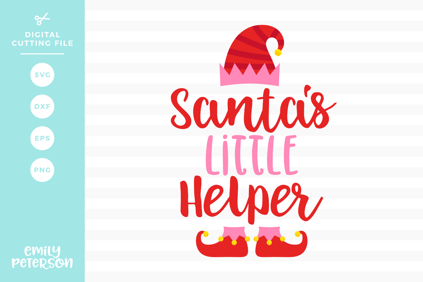 Santa's Little Helper SVG DXF By Emily Peterson Studio