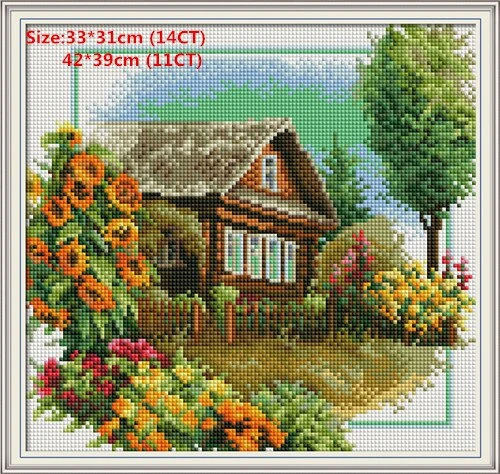 Cross Stitch DIY Handmade Needlework Set Embroidery Kit ED
