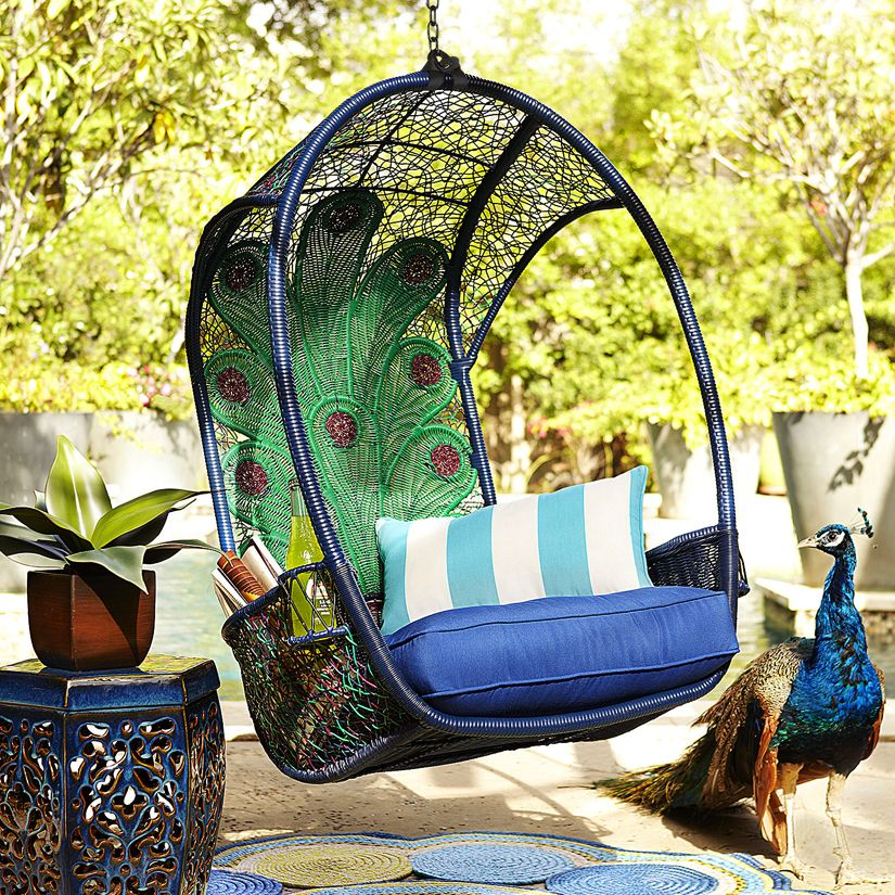 I Have GOT To Get One Of These! Hanging/swing Chair With Peacock Design