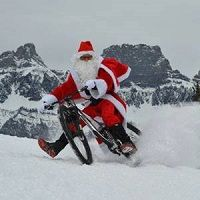If only he had a fat bike!