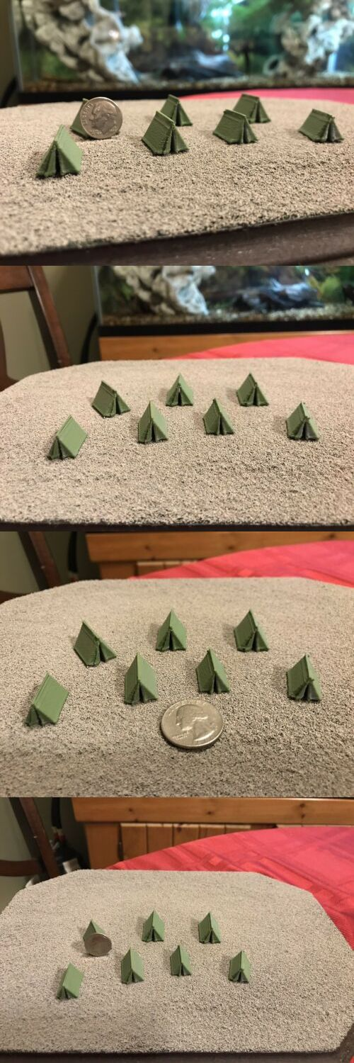 ab2307798 Other N Scale 486: N Scale Army Tents X 6 Painted -> BUY IT