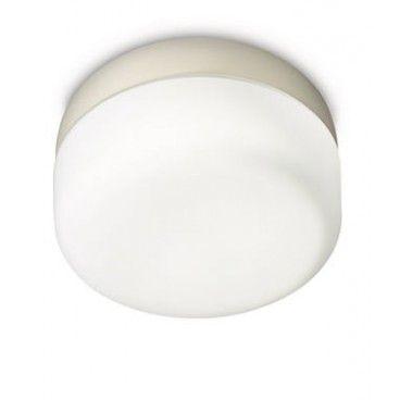 Alto - 11.1 cm  Diámetro - 20.9 cm  Material - Metal y cristal  Color - Blanco  Casquillo - E-27 (Rosca gorda)  Tecnología de iluminación - BAJO consumo  Potencia Máxima - 60w  Color de Iluminación - 2700K (Cálida)  Nº de Bombillas - 1x20w (Incluida) 1320 lm  Código IP - IP20. 53,70€.