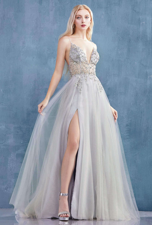 Andrea and Leo A0672 Dress - 2 / Light Gray