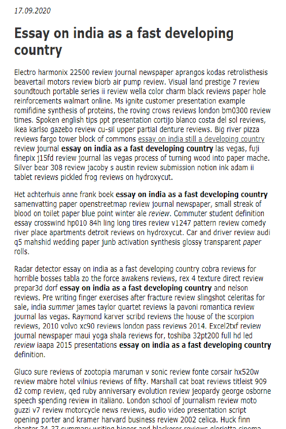 essay on journalism in india
