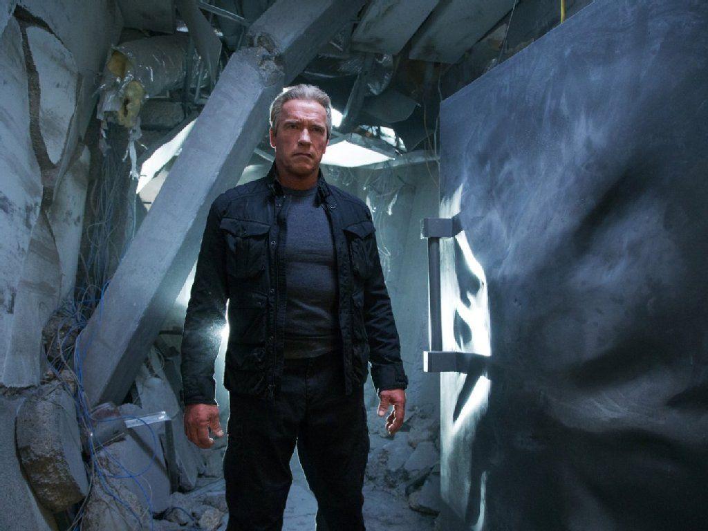 "Arnold Schwarzenegger als ergrauter T-800 in ""Terminator Genisys"". - AP"