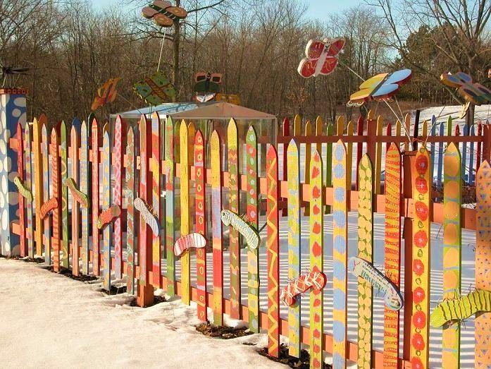 Fence-Mural-sart-DIY-Home-Decorating-garden-decor-great-diy-ideas+(2).jpg (697×523)