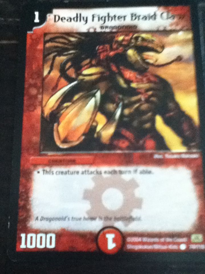 Deadly fighter braid claw monster cards monster hunter