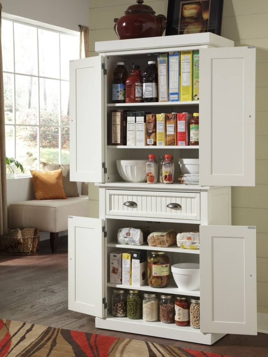 24 Beautiful And Functional Free Standing Kitchen Larder Units That Make Your Cooking Small Kitchen Storage Kitchen Pantry Storage Cabinet Kitchen Larder Units