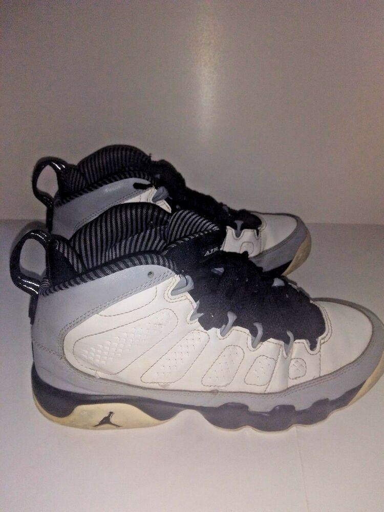 new style ac4a5 f2a22 Air Jordan IX Bulls Birmingham Barons Gray Silver Size 6.5 Y MJ 45  Jordan