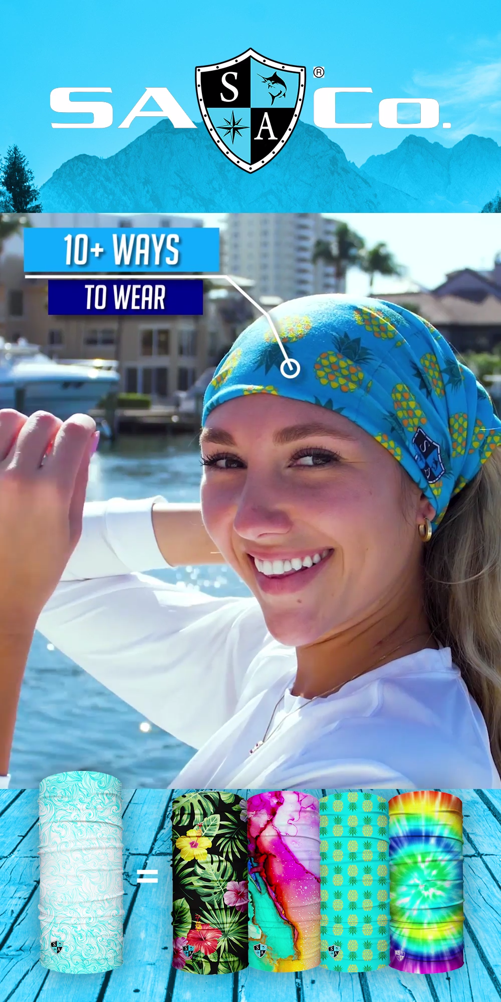 200+ Designs and 10+ Ways to Wear. Protect Your Hair and Face from Sun, Cold, Dust, & Allergens. Made of SPF 40 Microfiber. All Face Shields come with a Lifetime Warranty! Join the SA Team Today!