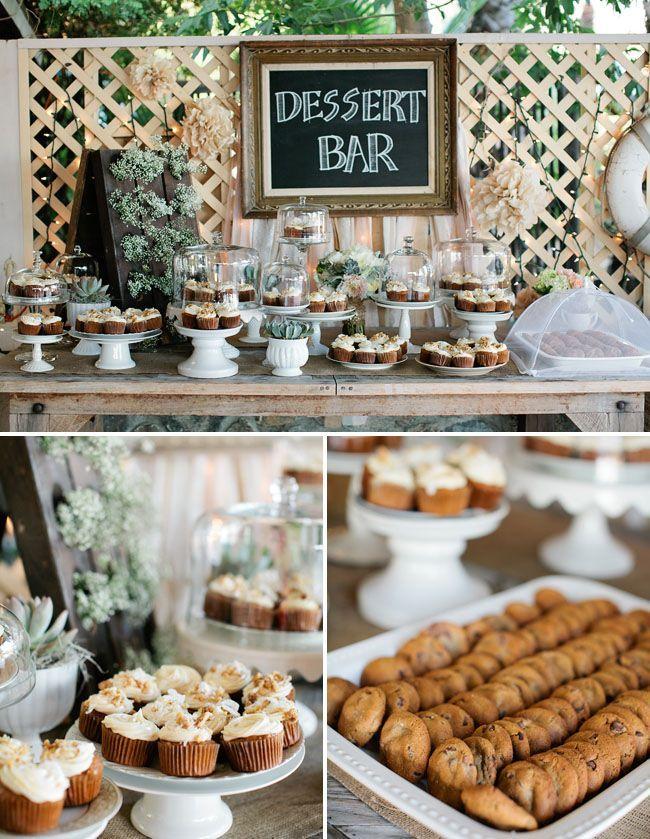 Simple Wedding Dessert Bar Rusticwedding Dessert Desserttable Weddingideas Dessertbar Dessert Bar Wedding Rustic Dessert Dessert Bars