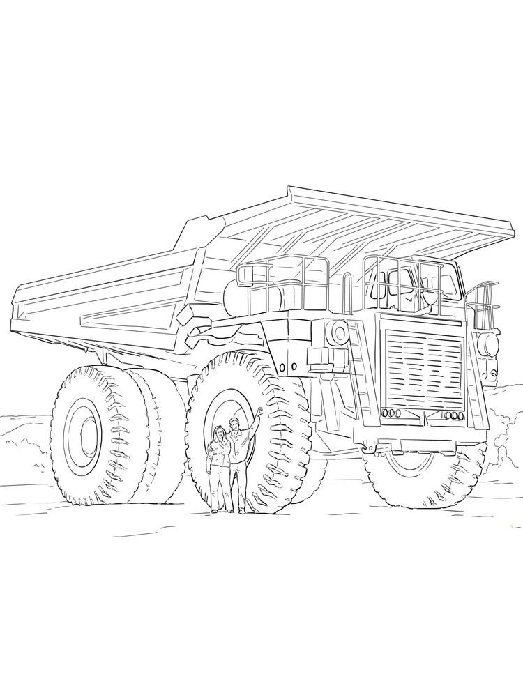 Chuck The Dump Truck Coloring Pages Dump Truck Is A Tool Used To Move Excavated Material From The Quary Lo Truck Coloring Pages Coloring Pages Coloring Sheets