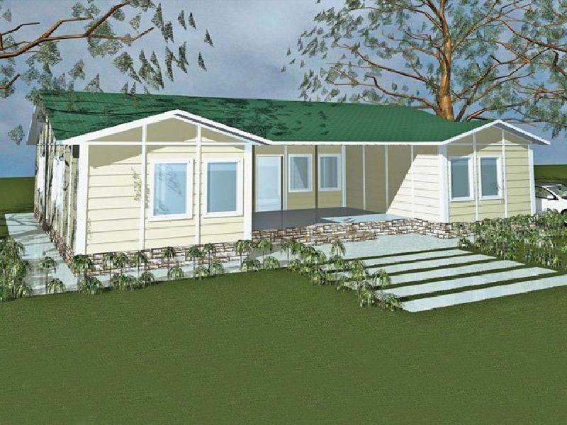 Çelik Ev Projeleri Tek Katlı 3D Çizim-Steel House Project Single