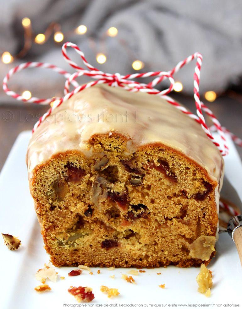 Mon Cake De Noel Aux Epices Fruits Secs Et Rhum Glace Au Sirop D Erable Les Epices Rient Cuisson De Noel Gateaux Alimentaires