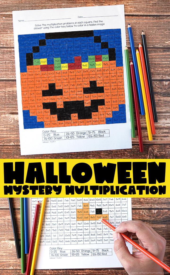 Free Printable Halloween Mystery Multiplication Worksheets Halloween Worksheets Halloween Math Activities Halloween Worksheets Free [ 1165 x 720 Pixel ]