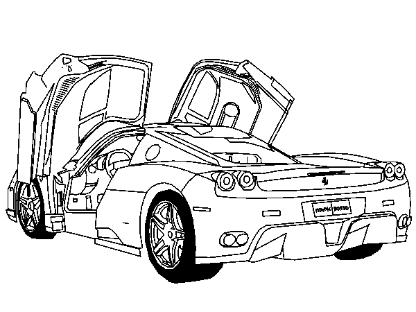 Ferrari Coloring Pages Race Car Coloring Pages Cars Coloring Pages Truck Coloring Pages