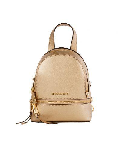 MICHAEL KORS Michael Kors Shop Online Michael Kors Gold Leather Backpack. # michaelkors #bags