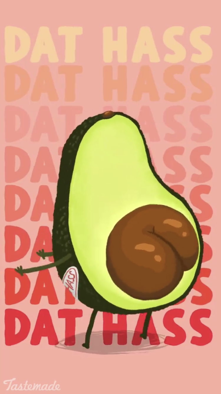 come get it Cute avocado, Funny phone wallpaper, Iphone