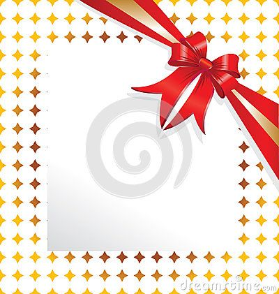 Red ribbon paper for copy-text #ribbon #frame #red #christmas #card #greetings #star #gold #web