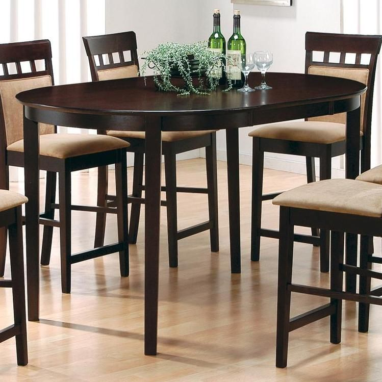 100208 Mix Amp Match Oval Counter Height Dining Table