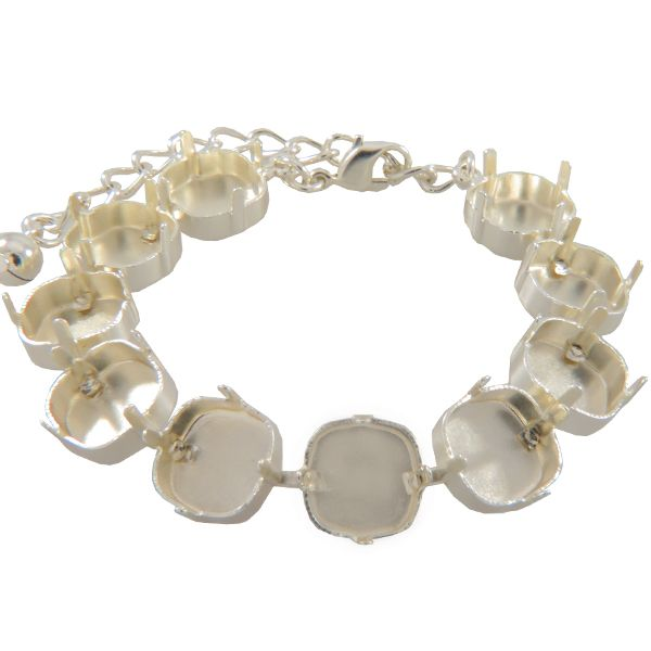 Empty Cup Chain Bracelet Hand Set Stones 12mm With 10