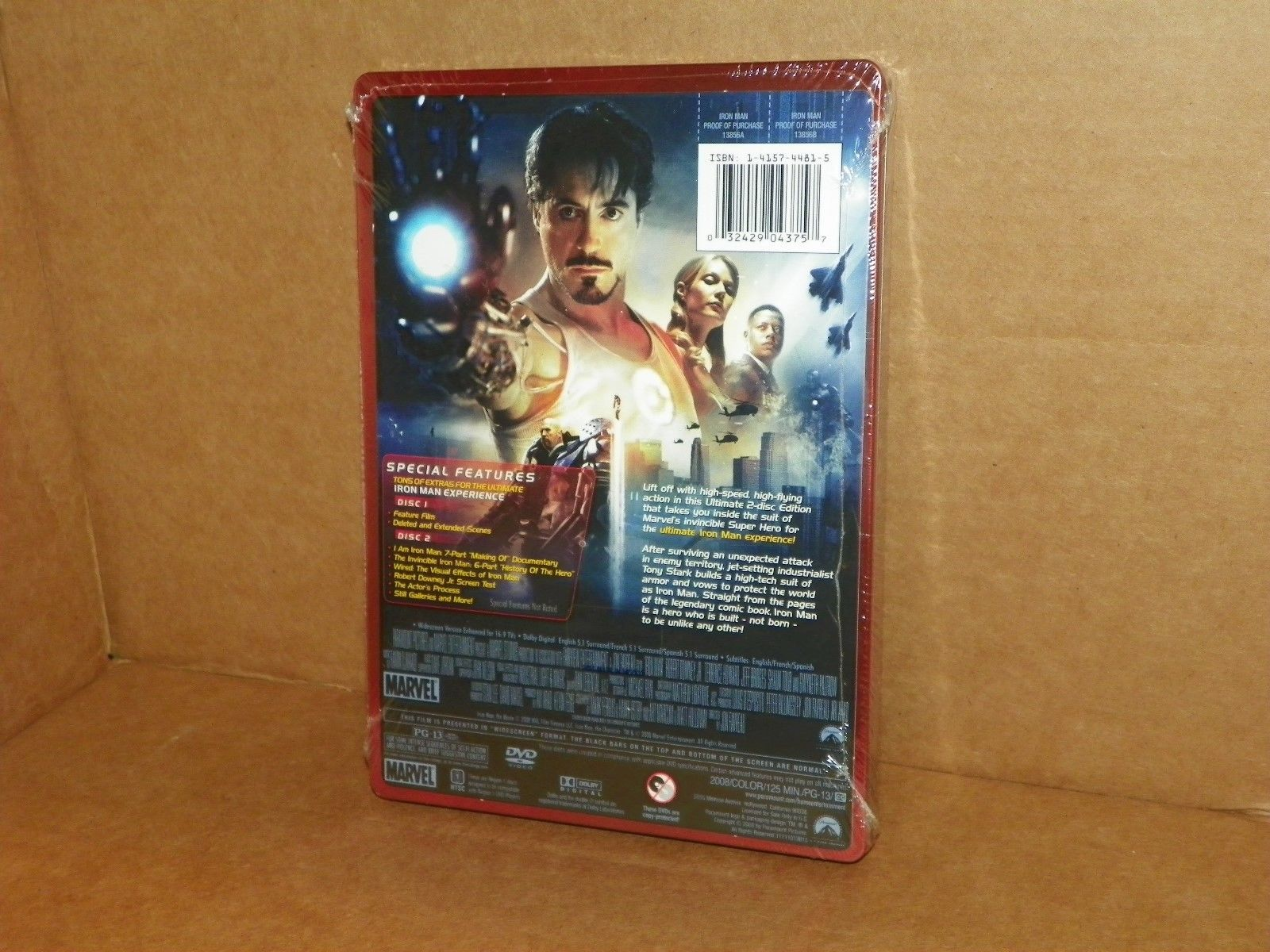Iron Man 2 Disc Dvd Marvel Book Cover Iron Man